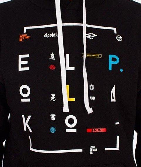 El Polako-Geometric Hoody Bluza Kaptur Czarna