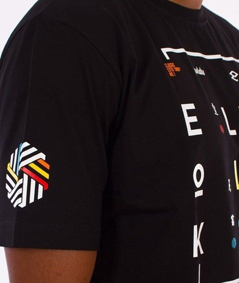 El Polako-Geometric T-Shirt Czarny