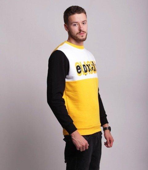 El Polako HALF CLASSIC Bluza Żółty/Czarny