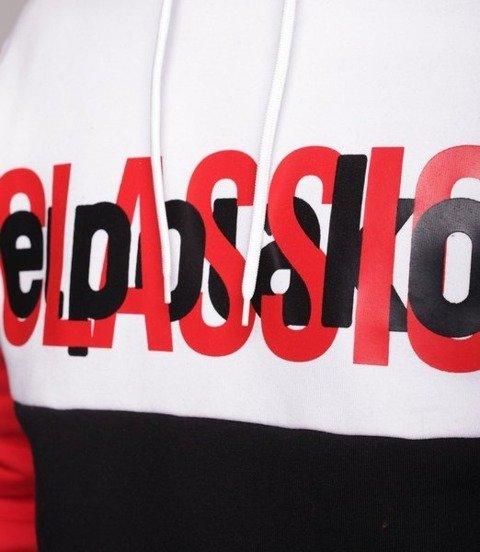 El Polako Half Classic Bluza z Kapturem Czarny/Czerwony
