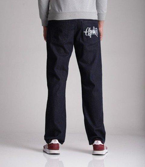 El Polako-Handmade Regular Jeans Spodnie Ciemne Spranie