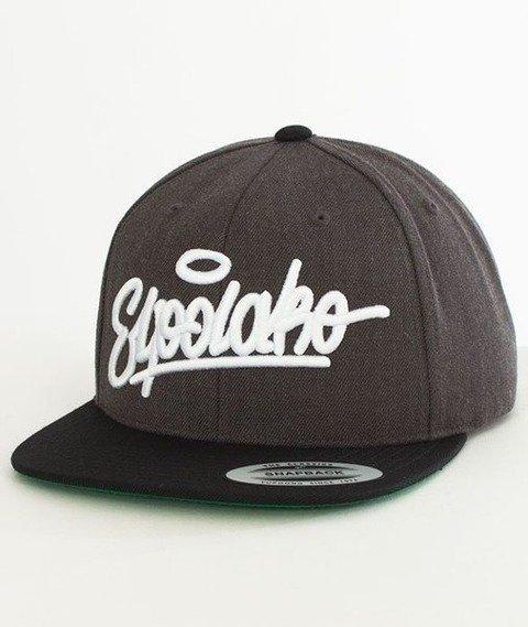 El Polako-Handwritten Snapback Grafitowy