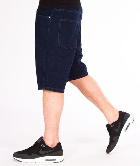 El Polako-Handwritten Szorty Jeans Dark Blue