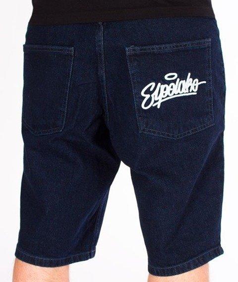 El Polako-Handwritten Szorty Jeans Dark Blue