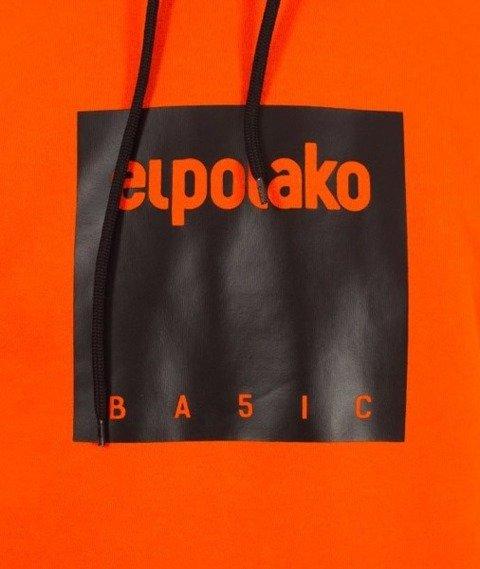 El Polako-Kangurka Box Style Bluza Kaptur Pomarańcz