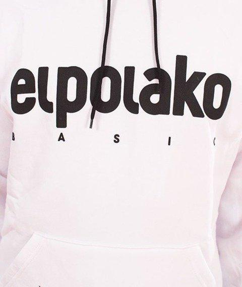 El Polako-Kangurka Classic Logo Bluza Kaptur Biały