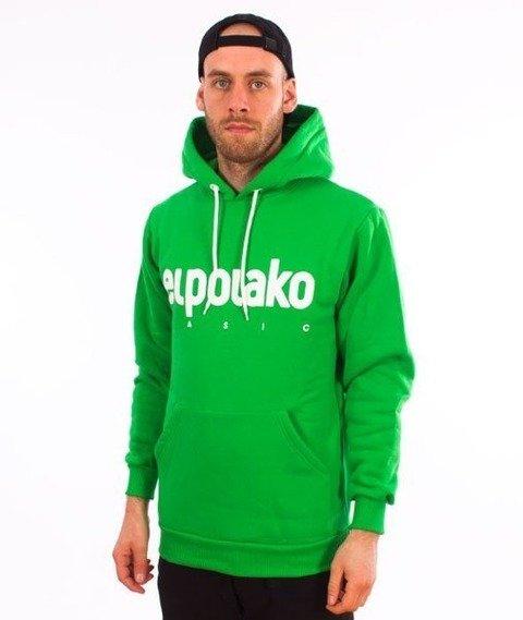 El Polako-Kangurka Classic Logo Bluza Kaptur Zielony