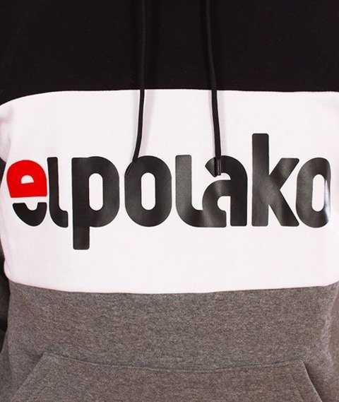 El Polako-Kangurka Elpo New Bluza Kaptur Ciemny Szary