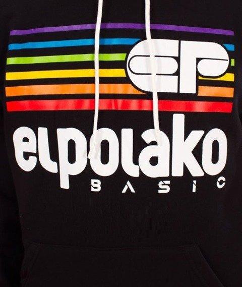 El Polako-Kangurka Rainbow Bluza Kaptur Czarna