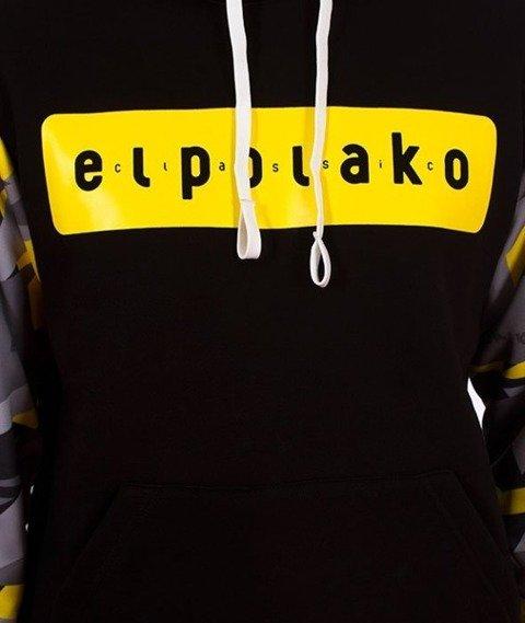 El Polako-Kangurka Sleeve Bluza Kaptur Triangle Moro Yellow