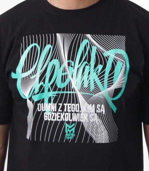 El Polako-Lines Handmade T-Shirt Czarny