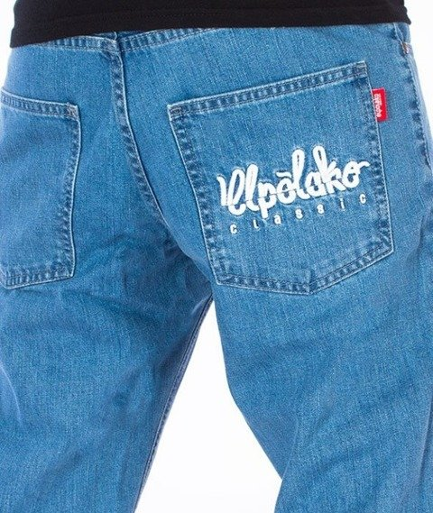 El Polako-Logo Slim Jeans Spodnie Light Blue