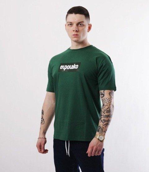 El Polako-Logobox T-Shirt Ciemno Zielony
