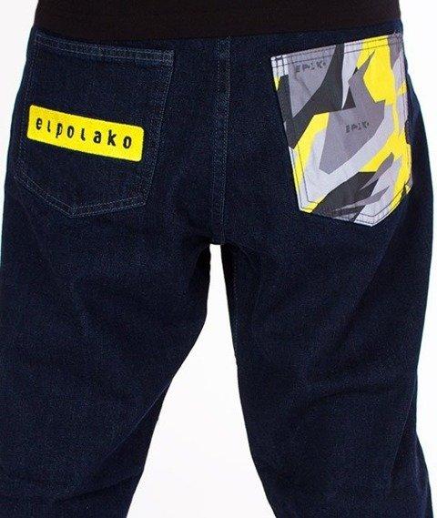 El Polako-Moro Triangle Spodnie Baggy Jeans Dark Blue