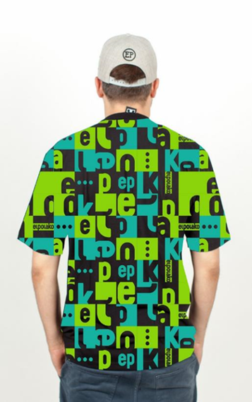 El Polako-Multisquare T-Shirt Zielony