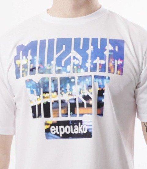 El Polako-Muzyka Miast T-Shirt Biały