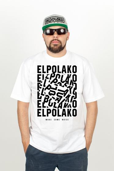El Polako NOISE T-Shirt Biały