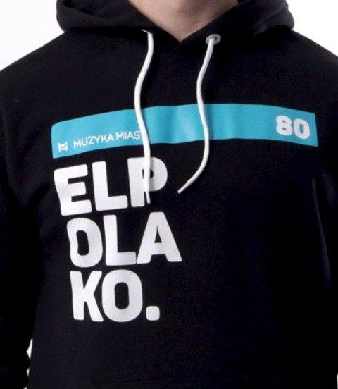 El Polako-OK. Bluza Kaptur Czarna