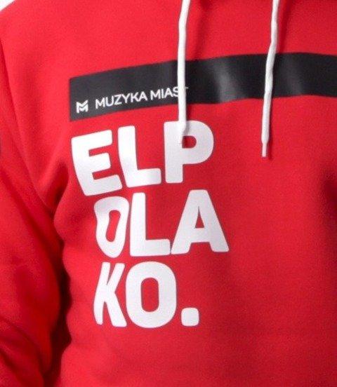 El Polako-OK. Bluza Kaptur Czerwona