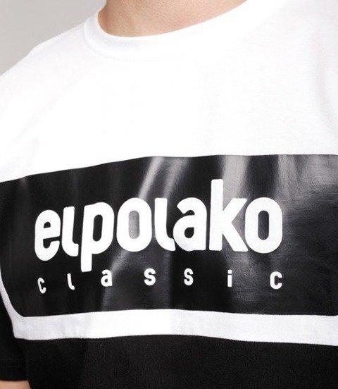 El Polako PLATE T-Shirt Czarny, Biała góra
