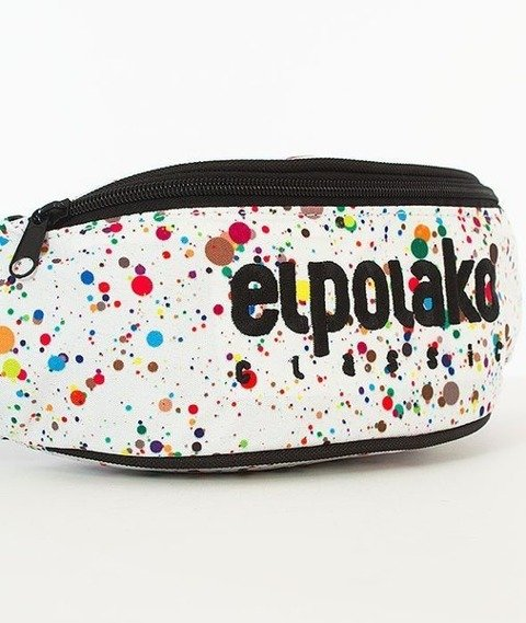 El Polako-Paint Dot Street Bag Nerka Biała/Multikolor