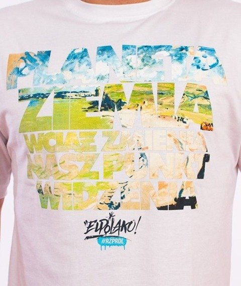El Polako-Planeta Ziemia T-Shirt Biały