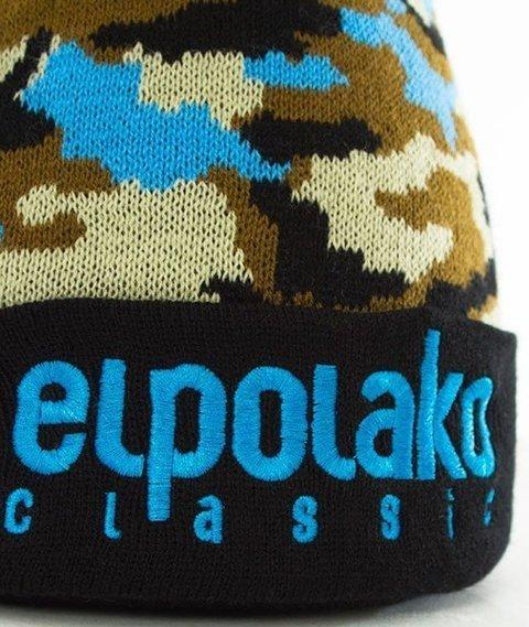 El Polako-Pompon EP Czapka Wywijana Czarna/Moro Brąz