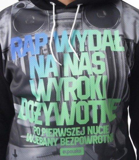 El Polako-Rap Wyroki Bluza Kaptur Czarna