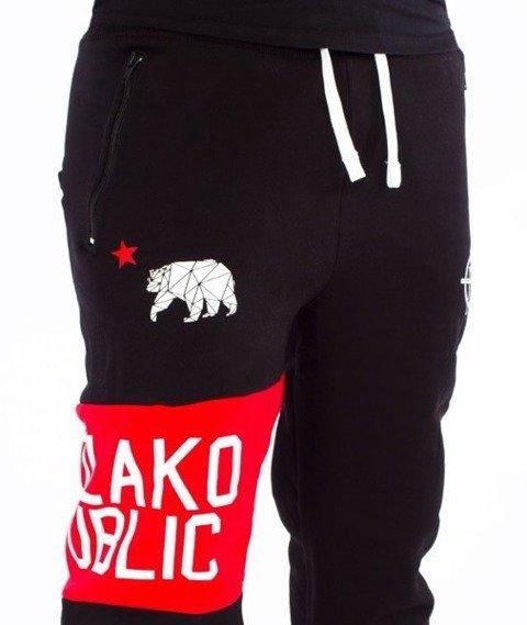 El Polako-Republic Fit Spodnie Dresowe Czarne