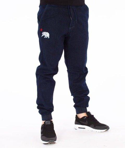 El Polako-Republic Jogger Slim z Gumą Spodnie Dark Blue