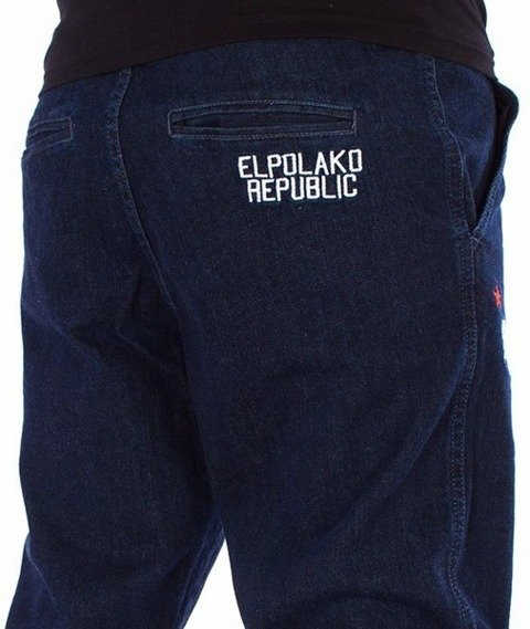 El Polako-Republic Jogger Slim z Gumą Spodnie Dark Blue