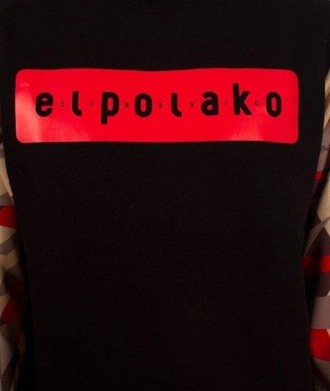 El Polako-Sleeve Crewneck Bluza Triangle Camo Red