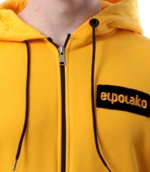 El Polako-Small Logo Bluza Rozpinana Kaptur Żółta