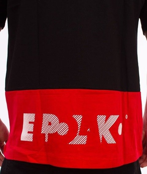 El Polako-Style T-Shirt Czarny/Czerwony