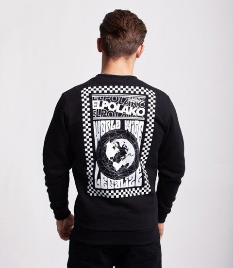 El Polako WORLD WIDE Bluza Czarny