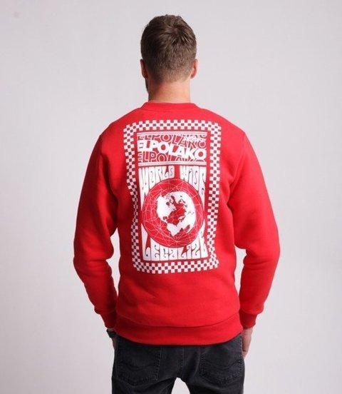 El Polako WORLD WIDE Bluza Czerwony