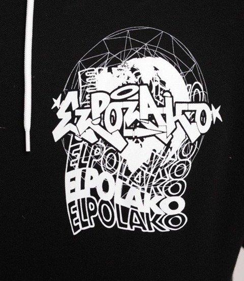 El Polako WORLD WIDE Bluza z Kapturem Czarny