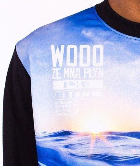 El Polako-Woda Bluza Czarna/Multikolor