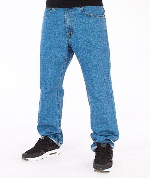 El Polako-Zaciek Slim Jeans Spodnie Light Blue