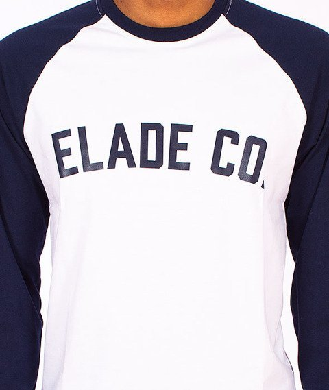 Elade-College Longsleeve White/Navy