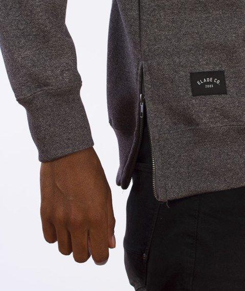 Elade-Zip Minimal Logo Bluza Grafitowa