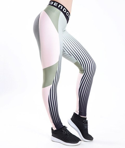 Endorfina-Color Leginsy Khaki/Multikolor