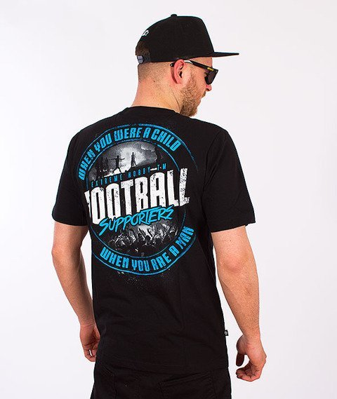 Extreme Hobby-Football Supporters T-shirt Czarny
