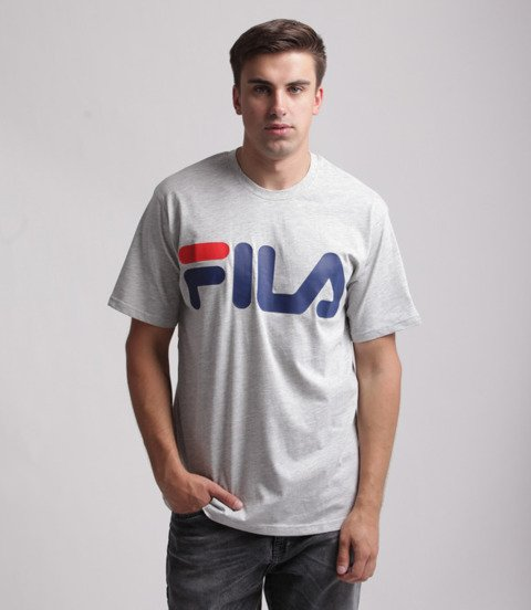 FILA-Classic Logo T-shirt Szary
