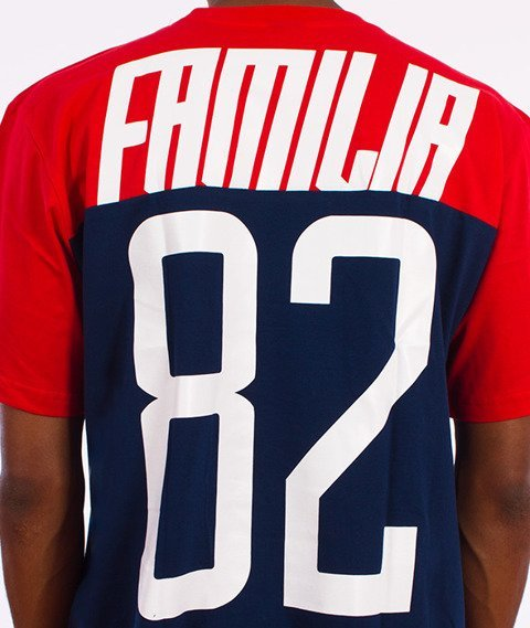 Familia Wear-82 T-Shirt Czerwony/Granatowy