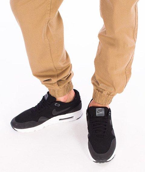 Ganja Mafia-Basic Jogger Spodnie Materiałowe Beżowe