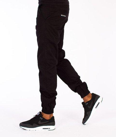Ganja Mafia-Basic Jogger Spodnie Materiałowe Czarne