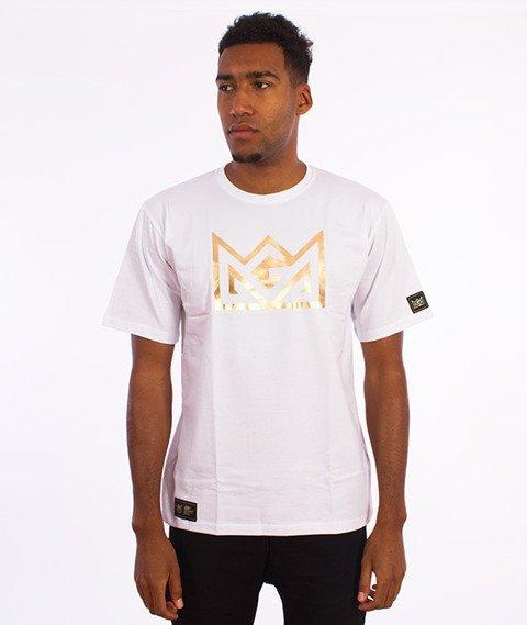 Ganja Mafia-Crown Foil T-Shirt Biały/Złoty