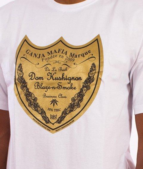 Ganja Mafia-Dom Kush T-Shirt Biały/Złoty