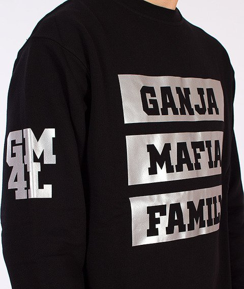 Ganja Mafia-GM Fam Bluza Czarna/Odblaskowa